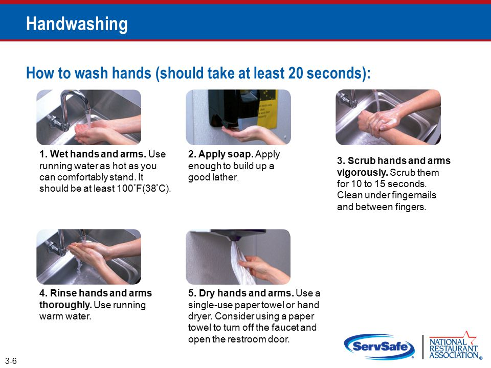 hand washing flow chart